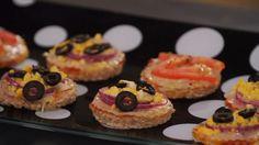 Receita de mini pizza caseira portuguesa e marguerita - Fazendo a Festa - GNT
