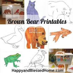 FREE Brown Bear Printables!  Make a story box for your little ones!