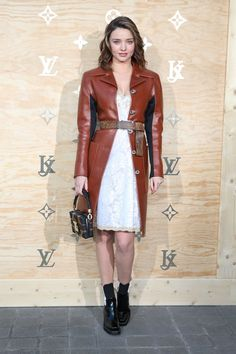 """hollywood-fashion: """"Miranda Kerr in Louis Vuitton at the Louis Vuitton x Jeff Koons collaboration launch party in Paris on April """" Best Celebrity Dresses, Celebrity Style, Fashion 2017, Fashion Show, Louvre, Winter Trends, Winter 2017, Fall Winter, What Is Fashion"""