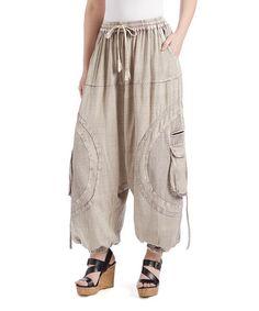 Look at this #zulilyfind! Fawn Cargo-Pocket Harem Pants #zulilyfinds