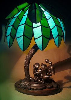 "Walt Disney ""Saludos Amigos"" Stained Glass Lamp Prototype