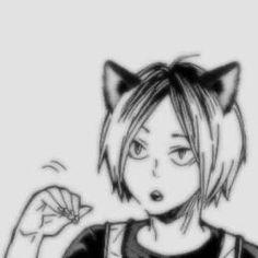 Anime Neko, Anime Cat Boy, Haikyuu Anime, Otaku Anime, Anime Guys, Ichigo Y Rukia, Anime Faces Expressions, Anime Monochrome, Cat Icon