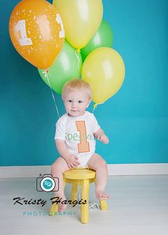 Custom Boys First Birthday Onesie or Shirt - Featuring an Appliqued Number One and Monogrammed Name. $22.00, via Etsy.