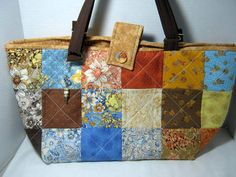 Quilted Yarn Holder ote Bag by JDCreativeHands on Etsy