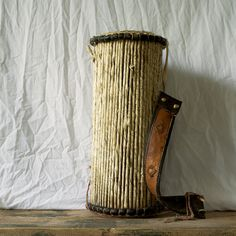 Vintage African Drum, Antique African Talking Drum, Primitive Rustic Tribal Collectible Musical Instrument
