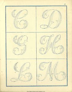 Free Easy Cross, Pattern Maker, PCStitch Charts + Free Historic Old Pattern Books: Fr - Alexandre Embroidery Alphabet, Alphabet Art, Embroidery Monogram, Cross Stitch Alphabet, Ribbon Embroidery, Embroidery Art, Cross Stitch Embroidery, Embroidery Designs, Collages D'images