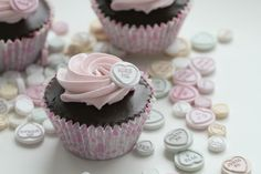 Passion 4 baking » Chocolate Valentines Day Cupcakes