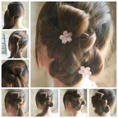 Creative Ideas - DIY Chic Flower Petal Updo Hairstyle