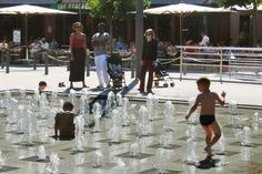 water jets in paved square - Google Search