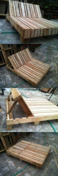 chaise longue en palettes