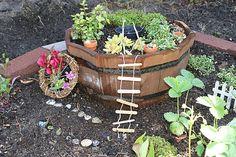 Make a simple and fun outdoor fairy garden!