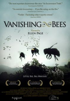 Vanishing of the Bees  Documentary, I watched this on Netflix....a must see! Sad, what man has done to his own environment.