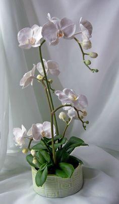 Gallery.ru / Фото #17 - белые орхидеи (цветы ручкой работы) - PervocveT