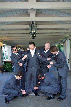 "Must Have Groomsmen Photo | Groom ""Getting Ready"" | San Diego Wedding Planner Swann Soirees | Rancho Bernardo Inn Wedding | Sara France Photography"