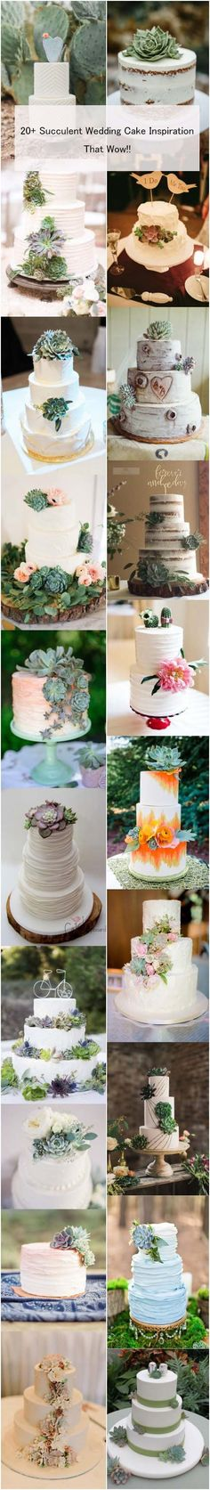 20+ Succulent Wedding Cake Inspiration That Wow!! | http://www.weddinginclude.com/2016/07/succulent-wedding-cake-inspirations/