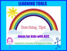 Agenesis Corpus Callosum Teaching Tip: What is so unique about this teaching tip? Well, it comes from a pre-Kindergarten teacher, P. Smart Program, Corpus Callosum, Pediatric Ot, Kindergarten Teachers, Learning Tools, Teaching Tips, Special Needs, Preschool, Therapy