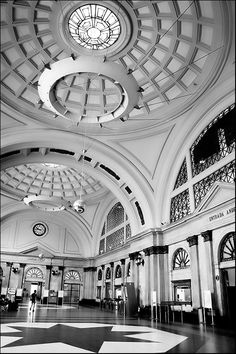 Famous main hall of França Station,  Barcelona, Catalonia