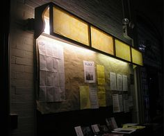 Design problem solved overhead fluorescent lighting fluorescent wood frame and fabricpaper to create a light box for fluorescent ceiling lights aloadofball Gallery