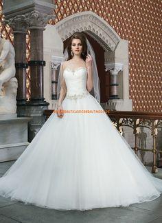 A-linie Luxuriöse Hochzeitskleider aus Softnetz