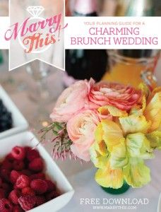 Our new guide is here, and ohmygaaawwwwd is it gorgeous! With bright pops of color, a beautiful spread of fresh fruit and pastries (there's a three-tiered coffee cake!), and pastel floral arrangements to die for, this free wedding guide will have you swooning down the isle.  I am a BIG fan of brunch weddings. HUGE.…