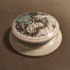 Staffordshire Eastern Hemisphere Nauticalia Paperweight by OldThingsConsidered on Etsy