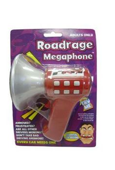 Road Rage MegaPhone by Novelties Wholesale. $8.99. Press the roadrage megaphone and out comes one of many roadraging phrases.