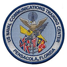 US Naval Communications Training Center NCTC Pensacola Security Group Us Navy Uniforms, Go Navy, Military Training, True Detective, Military Life, Training Center, Patches, War, Japan