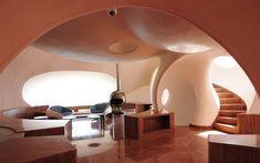 Room in the Palais Bulles, Théoule-sur-Mer, France
