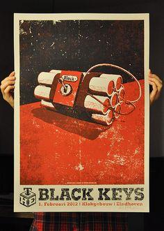 Black Keys concert poster by Lars P. Tour Posters, Band Posters, The Black Keys, Cultura Pop, Pics Art, Grafik Design, Graphic Design Inspiration, Illustrations Posters, Vintage Posters