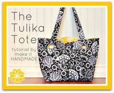 The Reversible Tulika Tote - Free Sewing Tutorial + How to Install Snap-Together Plastic Grommets ◎