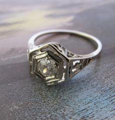 "1920s ""Latticed"" Diamond Ring  Erica Weiner"