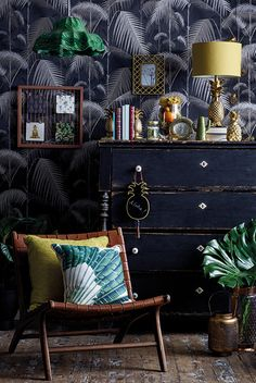 Lovely interior design trends just to inspire you in your interior design projects nad your home decoration! Interior Desing, Interior Inspiration, Interior Decorating, African Interior Design, Ideas Decoracion Salon, Interior Tropical, Estilo Kitsch, Maximalist Interior, Decoration Bedroom