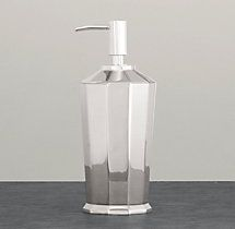 Faceted Metal Accessories - Soap Dispenser