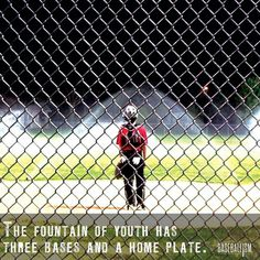 The fountain of youth has three bases and home plate.