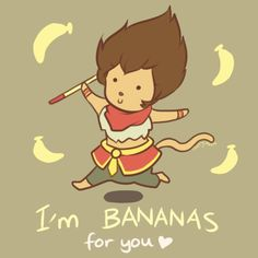 Wukong - LoL Valentines Card by on DeviantArt League Of Legends Charaktere, Lol, Pick Up Lines, Winnie The Pooh, Disney Characters, Fictional Characters, Doodles, Geek Stuff, Romance