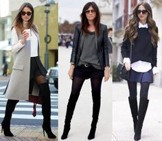 COMO USAR BOTAS OVER THE KNEE (CUISSARDES, THIGH-HIGH, ACIMA DO JOELHO OU COMO PREFERIR)