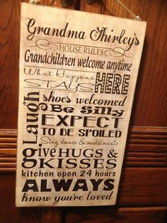 Grandma's Rules subway art sign http://patterson.uppercaseliving.net