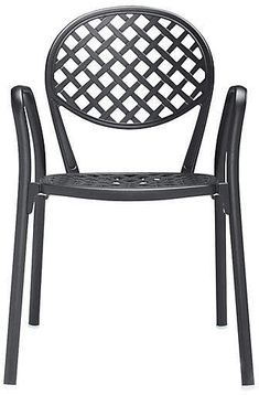 black and white metal mediterranean bistro chair h rh pinterest com au
