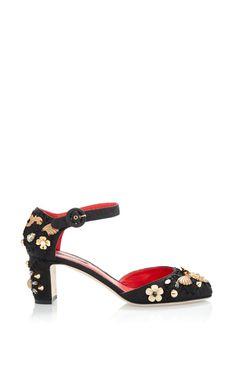 Bullfight Embellished Passementerie Low-Heel Mary Jane by Dolce & Gabbana for Preorder on Moda Operandi