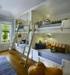 Nautical alcove wall bunk beds
