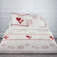 Housse de couette FLANELLE 220x240 + 2 taies Winter heart Decoration, Comforters, Quilts, Blanket, Bed, Furniture, Home Decor, Hearts, Bedding