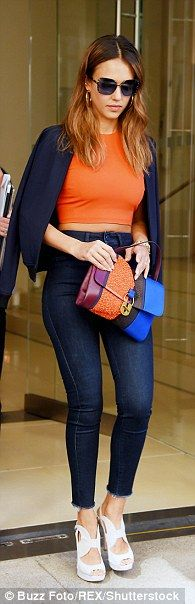 Jessica Alba impressed in three very different looks on Tuesday as she made her…