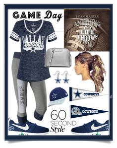 """Game Day"" by hubunch ❤ liked on Polyvore featuring aminco, New Era, MICHAEL Michael Kors and Fathead"