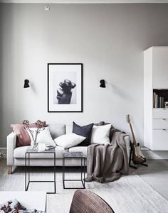 awesome 40 Scandinavian Aesthetic Vintage Living Room Design #AwesomeInteriorDecoratingTips