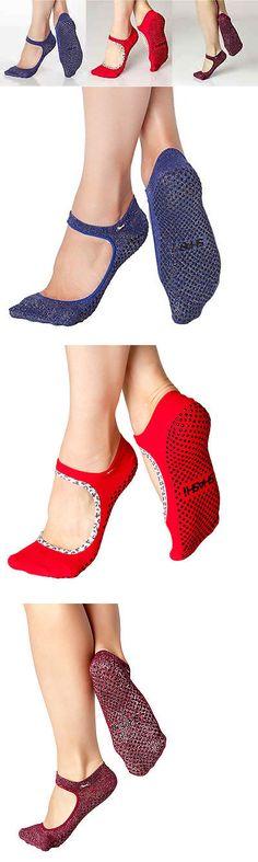 Socks 66078: Shashi Open Top Non-Slip Fitness Socks For Pilates Barre Yoga Medium 3 Pack BUY IT NOW ONLY: $47.99