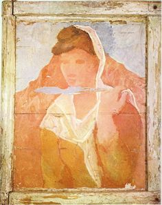 www.wikiart.org - Pablo-Picasso - Expressionism - Fernande with shawl (1906)