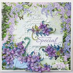 Exquisite Lilac Swirls - created w/ the Lush Lilac Collection from #HeartfeltCreations #papercraft #craft #card #cardmaking #celebration #friendship #thinkingofyou #birthday