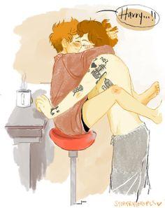 Awww, love the Larry fan art