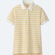 WOMEN STRETCH PIQUE STRIPED POLO SHIRT
