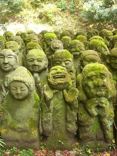 This is one of my very favorite places in Japan. Not easy to find, but google Otagi Nenbutsu in Arashiyama. Not to be confused with Adashino Nenbutsu, just down the street.... Take a snack, your camera, and prepare to be amused.